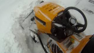 8. Cub Cadet XT1 fighting heavy snow pt. 1.