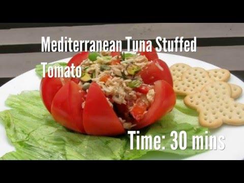 Mediterranean Tuna Stuffed Tomato Recipe