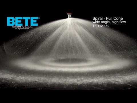 TF112-150FFC - Wide Angle, High Flow Full Cone Spiral Spray Pattern Video