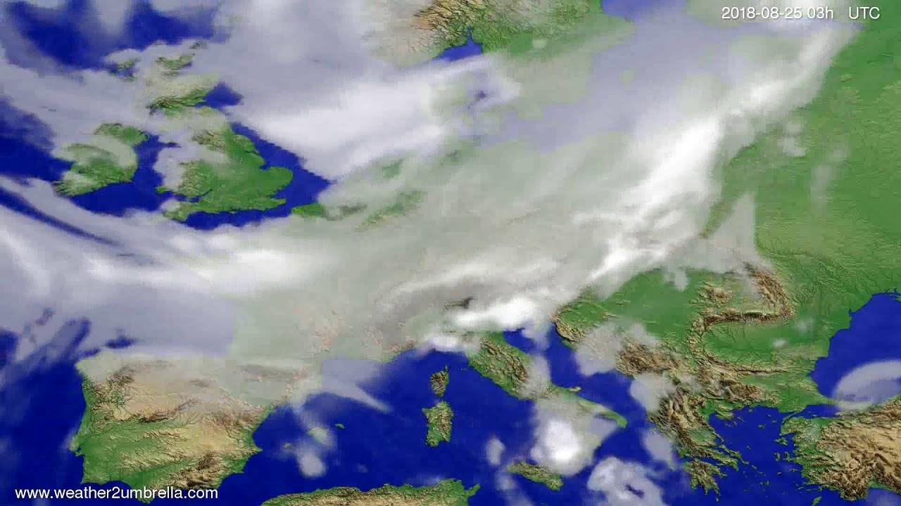 Cloud forecast Europe 2018-08-22