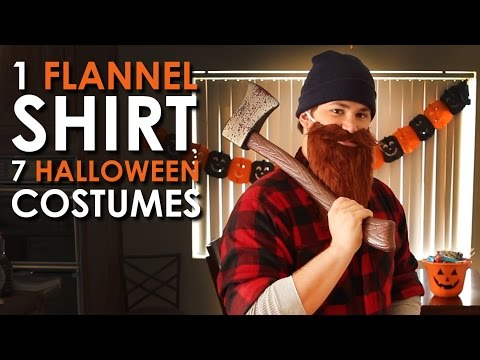 Costumes - So you waited until the last minute to get your Halloween costume? No fear! This video will show you how to make several costumes out of one classic men's clothing staple, The Flannel Shirt....