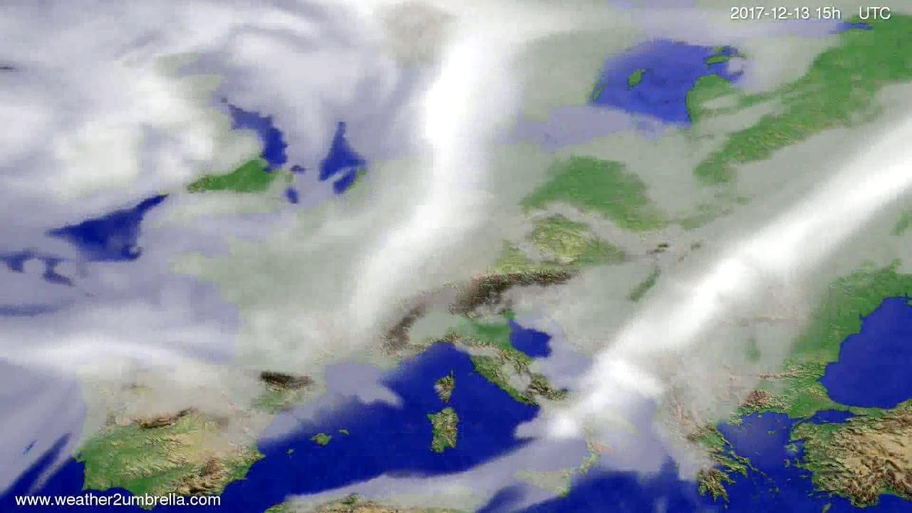 Cloud forecast Europe 2017-12-11