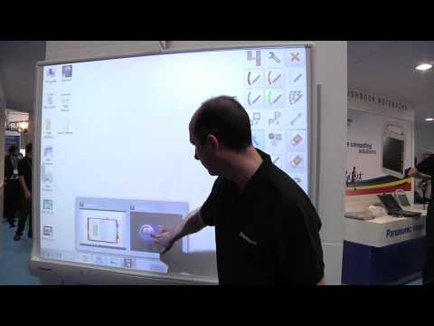 Panasonic elite Panaboard Multi-touch Interactive Whiteboard UB-T880 Demonstration at BETT 2010