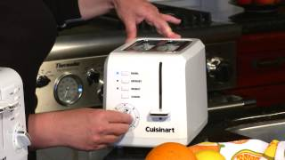 2 Slice Compact Plastic Toaster Demo Video Icon