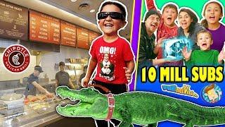 Video KID LOSES PET ALLIGATOR + CHIPOTLE STRANGERS & More! FUNnel Vision 10 MILLION SUBS Celebratin MP3, 3GP, MP4, WEBM, AVI, FLV Agustus 2018
