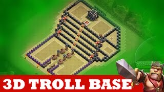 "Video Clash Of Clans | INCREDIBLE 3D TROLL BASE! A MUST WATCH! | ""THE KINGS THRONE"" MP3, 3GP, MP4, WEBM, AVI, FLV Oktober 2017"