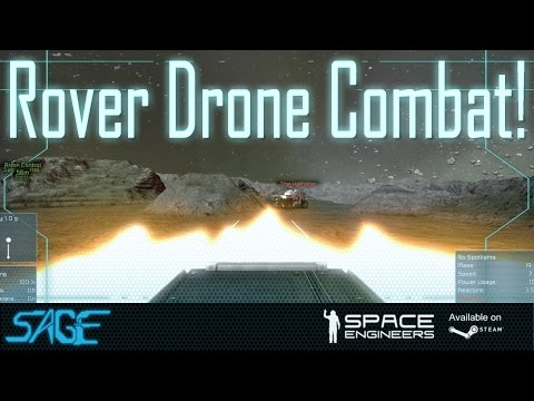 Battle - Arron and I got together for a nice little battle of in Rover Drones. Was allot of fun, and a joy to use the simi-new remote control blocks. ---------------------------What is this game?----------...