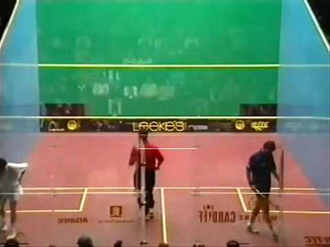 SQUASH  Jansher Khan British Open 1996 Semi Final by a s i r a f t a b