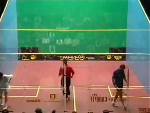 SQUASH  Jansher Khan British Open 1996 Semi Final by a s i r a f t a b
