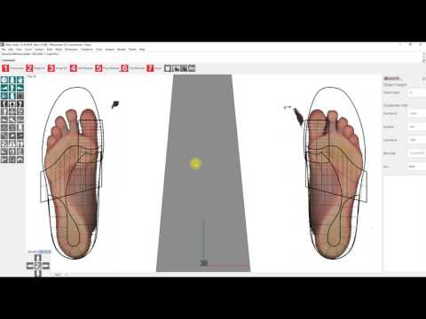 LutraCAD - Tutorial 2 - Design insole/orthotic based on a 2D scan