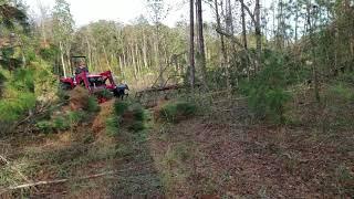 7. Mahindra 4540 4WD Clearing trees