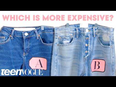 Denim Expert Explains Cheap Vs. Expensive Jeans | Teen Vogue