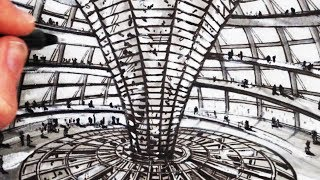 Learn How to Draw The Reichstag Building Dome in this Narrated drawing tutorial. SUBSCRIBE: http://www.youtube.com/circlelineartschoolHow to Draw Famous Buildings: http://bit.ly/2b8lXtzThis drawing is a drawing of the interior dome of the famous building: The Reichstag Building in Berlin.Here is The Reichstag Building Wikipedia link:https://en.wikipedia.org/wiki/Reichstag_buildingFor this drawing I use a 4B pencil, a black pen, a grey pen, grey paper and a white pastel.I hope you LIKE, COMMENT & SUBSCRIBE: http://youtube.com/circlelineartschoolHow to Draw a Building: Draw The Reichstag Building Step by Step: Circle Line Art School: Episode 229Thank you for watching this How to Draw a Building art tutorial from my channel, Circle Line Art School, please subscribe to my channel for a new art tutorial each week, there are now more than 200 of my drawings to watch! http://www.youtube.com/circlelineartschoolHi, my name is Tom McPherson and I founded Circle Line Art School as an online art education resource for all. My aim is to inspire people to learn to draw and be more creative.Please leave a comment to let me know what kind of drawing you would like to see next.You can follow me on:Facebook: http://facebook.com/circlelineartschoolInstagram: https://www.instagram.com/circlelineartschool/For weekly YouTube art videos: http://www.youtube.com/circlelineartschoolFor my website please visit: http://www.circlelineartschool.comThank you for your support and have a great day! Tom McPhersonCircle Line Art Schoolhttp://www.circlelineartschool.comMusic used in this art lesson:Rubix Cube by Audionautix is licensed under a Creative Commons Attribution licence (https://creativecommons.org/licenses/by/4.0/)Artist: http://audionautix.com/How to Draw The Reichstag Building Dome narrated step by step drawing art tutorialCircle Line Art School