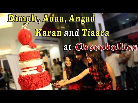 Dimple, Adaa, Angad, Karan and Tiaara at Chocoholl