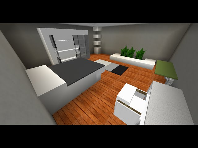 tutoriel chambre moderne minecraft. Black Bedroom Furniture Sets. Home Design Ideas