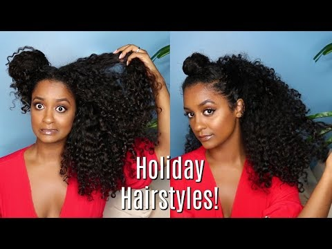 Holiday Curly Hairstyles 🎄  Affordable Products!