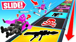 SLIDING For our *LOOT* in Fortnite