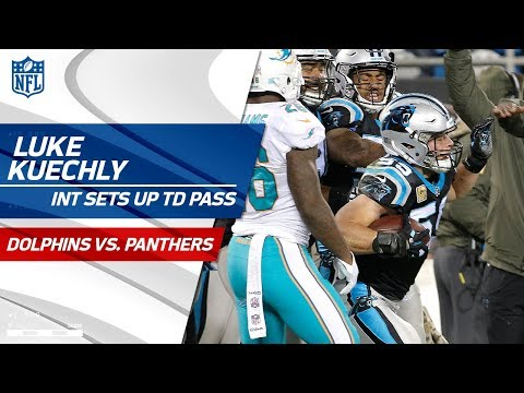 Video: Luke Kuechly's Sick Sideline INT Sets Up Cam Newton's TD Pass! | Dolphins vs. Panthers | NFL Wk 10