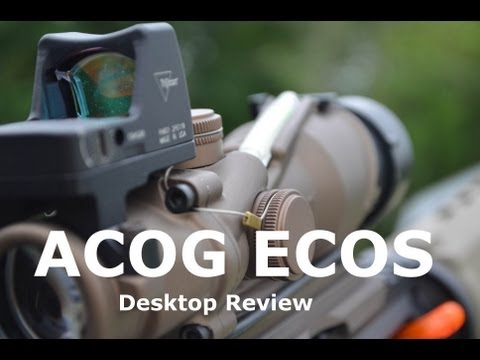 acog - This is a desktop review of my ACOG ECOS System which is a combination of the TA31 4X32 Scope with dual green illumination and the Trijicon RMR (Ruggedized M...