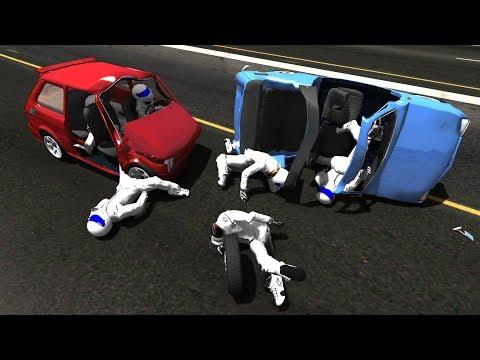 BeamNG.Drive Mod : Fiat 126p/Maluch + Stig Crash Testing #2 HD (видео)