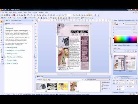 Serif PagePlus X5 Tutorial - Quick Start