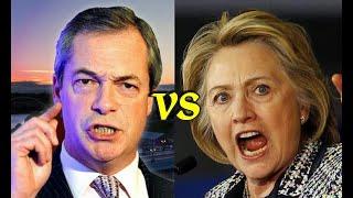 Download Lagu Hillary Clinton INSULTS Nigel Farage, Instantly regrets it Mp3