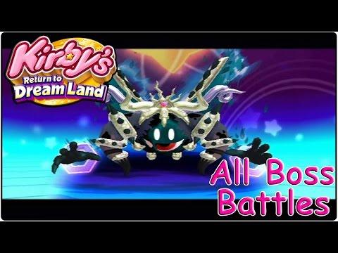 bosses - Kirby's Return to Dreamland Gameplay Playthrough Walkthrough Kirby's Adventure Wii 100% World Bosses in order : 00:00 - Whispy Woods 00:45 - Mr Dooter 02:12...