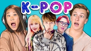 Teens React To KPop BTS  Blood Sweat & Tears BLACKPINK EXOCBX