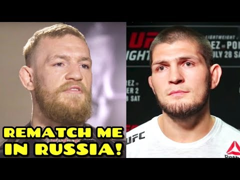 Conor McGregor REACTS to Khabib win & wants rematch in Russia, Dana White speaks on Khabib vs Dustin
