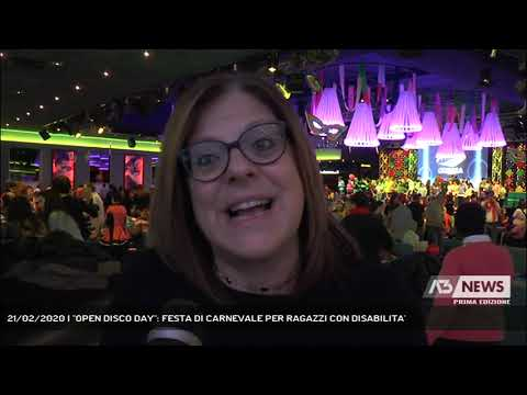 21/02/2020   ''OPEN DISCO DAY'': FESTA DI CARNEVALE PER RAGAZZI CON DISABILITA'