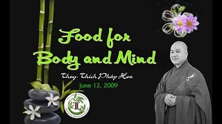 Food for Boddy and Mind - Thay. Thich Phap Hoa (June 12, 2009)