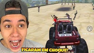PEGUEI O CARRO MONSTRO EM CIMA DA FACTORY E FIQUEI LOUCO!! FREE FIRE