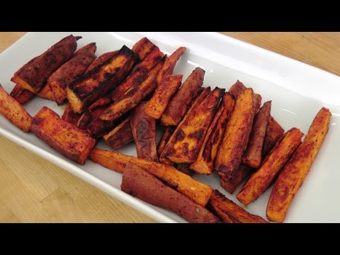 Roasted Sweet Potato Fries Recipe – Laura Vitale – Laura in the Kitchen Episode 230