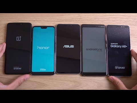 Asus Zenfone 5Z Vs Nokia 7 Plus Vs OnePlus 6 Vs Honor 10 Vs Galaxy A8+ - Speed Test!