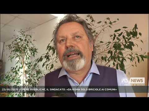 23/01/2020 | OPERE PUBBLICHE, IL SINDACATO: «DA ROMA SOLO BRICIOLE AI COMUNI»