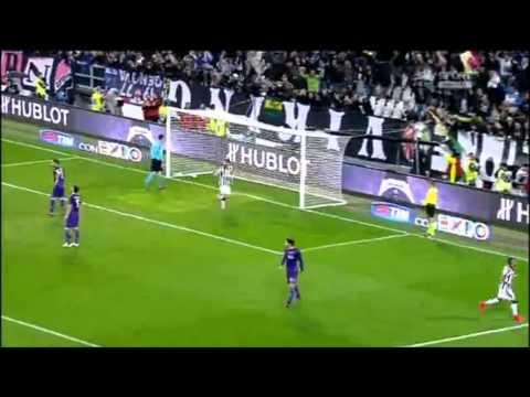 juventus - fiorentina 3-2 gol di llorente, tevez (2), rodriguez, ilicic