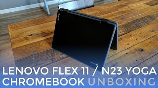 Buy the Lenovo N23 Yoga Chromebook on Amazon: http://amzn.to/2o7kADDLenovo's new twin pairing of Chromebooks, the Flex 11 and N23 Yoga are basically the exact same device with a slightly different color pallet.  We've managed to get our hands on the N23 Yoga and get our first impressions of this diminutive little Chromebook.With an IPS screen, 360-degree hinge and durable build, this little guy packs in a lot for $280.