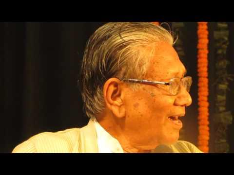 Video Speech by Prof. Manoj Das while receiving