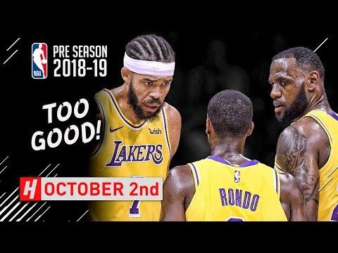 LeBron James, Rajon Rondo & JaVale McGee Full Highlights vs Nuggets 2018.10.02 - TOO GOOD! - Thời lượng: 5:47.
