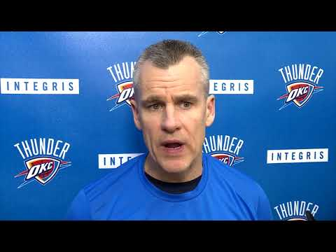 Billy Donovan Before The Game Against Cavaliers / Thunder vs Cavs