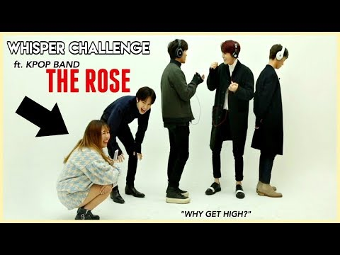 KPOP IDOL BAND plays the WHISPER CHALLENGE! (we stan a mess)