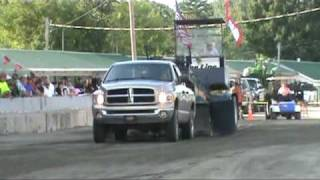 The Adirondack Truck and Tractor Pullers (ATPA) 8500lb Street Legal Trucks from the fifith event of the season at Malone, New ...