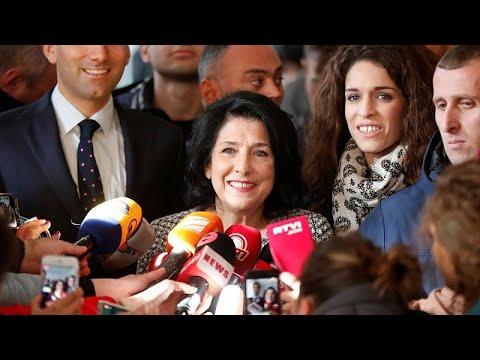 Georgien: Salome Surabischwili liegt Präsidentenwahl vorn