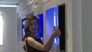 New 2017 LG 1mm Thick Flexible OLED TV
