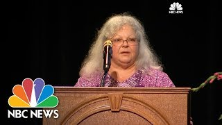 Susan Bro, the mother of Heather Heyer, spoke at her daughter's memorial about the life that she lived and her legacy. » Subscribe to NBC News: ...