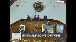 Venezuela's new constituent assembly has formally declared it will assume the powers of the opposition-led parliament. The vote ...