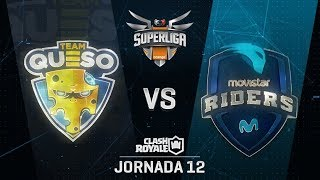 SUPERLIGA ORANGE - TEAM QUESO VS MOVISTAR RIDERS - Jornada 12 - #SuperligaOrangeCR12