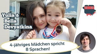 Video 4 years old speaking 8 languages? How does Yulia Devyatkina raise her daughter multilingually MP3, 3GP, MP4, WEBM, AVI, FLV Mei 2018