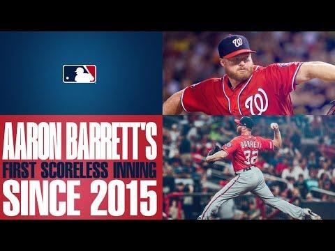 Video: Barrett returns, pitches scoreless frame