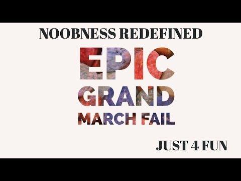 March Of Empires || WarLord vs Just 4 Fun || Epic Grand March Fail || Retard Alert
